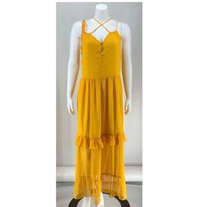 NEW Tularosa Yellow Maxi Dress Small E1